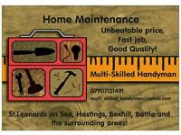Multi-skilled Handyman in Hastings, Battle and the surrounding area.