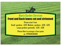 Grass Cutting Gardening service for the Cumbernauld area