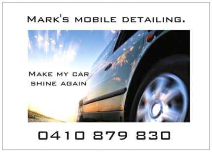 Car Detailing from $25 basic wash and we come to you!