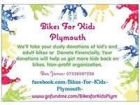 Bikes For Kids Plymouth- Help Underprivalged kids get bikes, help donate bkes or finacially