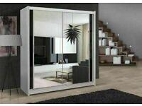 🩸🩸BERLIN 2&3 SLIDING DOORS WARDROBE IN 120,150,180,203 & 250cm SIZES & IN MULTI COLORS🩸🩸
