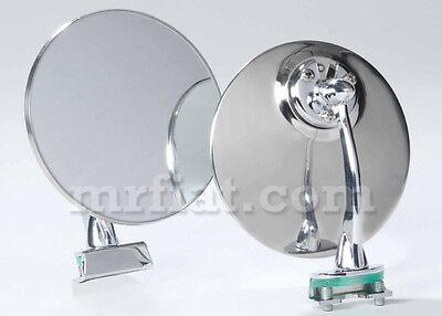Fiat 500 600 850 Side View Mirror Set Flat New