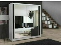 BEST FURNITURE-NEW BERLIN 2&3 SLIDING DOORS WARDROBE IN 5 SIZES & IN MULTI COLORS-CALL NOW