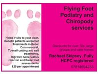 Flying Foot Doctor- Podiatry and Chiropody services- Home visits to your door!