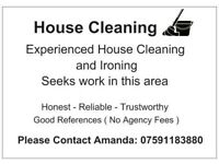 DOMESTIC CLEANING and IRONING IN YOUR AREA
