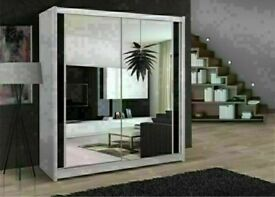 🔵💖🔴5 Def Sizes available🔵💖🔴Brane New Berlin 2 Door Sling wardrobe fully mirror or now