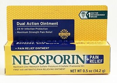 Strength First Aid Antibiotic Ointment - Neosporin Plus Pain Relief Maximum Strength First Aid Antibiotic Ointment 0.5 oz