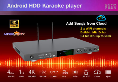 Lemon Android KTV 8866 4K 8TB HD 70000 Vietnamese English Chinese karaoke player