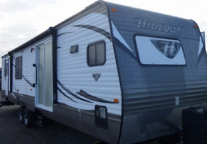 Two Bedroom 38' Trailer W Bunkbeds at Candle Lake Golf Course