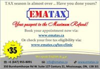 Tax Preparation Services, Mississauga. Starting from 35$