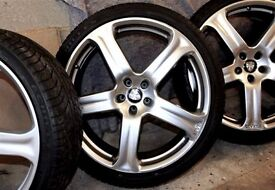 """5 Revere WC1 22"""" Silver Alloy Wheels - with Tyres 6mm. Off an Audi Q5 MINT!"""