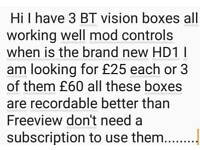 BT vision boxes recordable ones