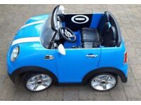 Kids 2 Seater 12volt Mini Cooper S Electric Ride On Car