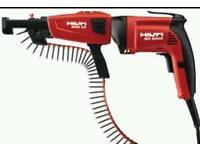 Hilti sd 6000 screw gunna and collated attachment