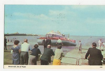 Hovercraft Isle Of Wight 1977 Postcard IOW 251a