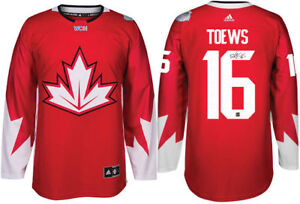 NEW Jonathan Toews Team Canada World Cup 2016 Signed Jersey +COA