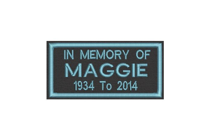 Set of 24 Custom Embroidered Name Tag, Biker Patch, badge in Memory of , Iron on