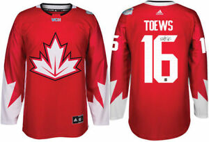 Signed Toews jersey with COA