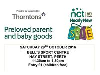 NCT Nearly New Sale of new and gently used Maternity, Baby and Child Items