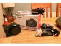 Canon 600D with 18-55mm USM Lens and bag