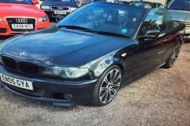 BMW 3 series convertible M sport black leather interior automatic