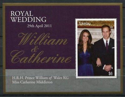 Tokelau 2011 Kgl. Hochzeit Royal Wedding Prinz William Kate Royalty Block 46 MNH
