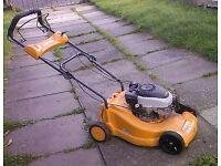 self drive petrol lawn mower