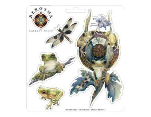 FROGGY WORLD Frog Sticker Car Decal Jody Bergsma frogs dragonfly dragonflies