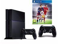 Playstation 4 Slim, 500gb, 2 original controllers & Fifa 16