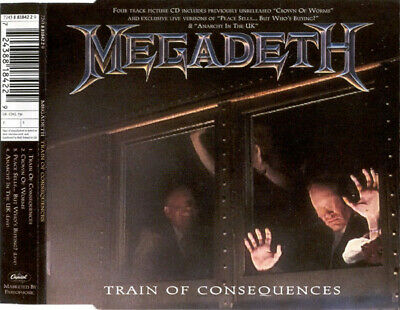 Megadeth, Train Of Consequences, NEW/MINT Original UK CD single