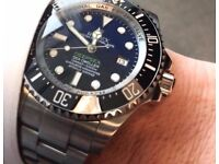 Rolex Deepsea Blue edition with heavy glide braclet