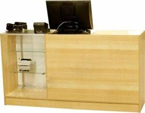 Cash Wrap Register Checkout Counters-Stand-Store Counter Cabinet