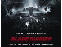 Secret Cinema tickets x 2 - Blade Runner The Final Cut- Thursday 3rd May 2018