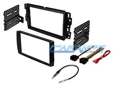 CAR STEREO DOUBLE 2 DIN RADIO DASH INSTALLATION BEZEL TRIM KIT W/ WIRING HARNESS Car Stereo Wiring Kit