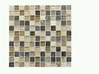2 × Beige mosaic glass and stone wall tiles