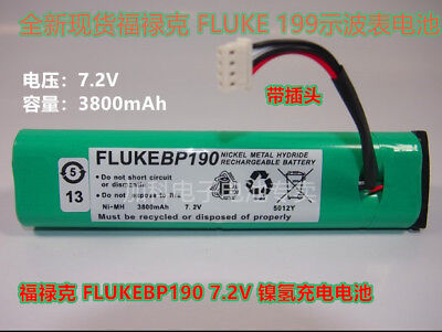 New 3800mah 7.2v Rechargeable Battery For Fluke Bp190 Fluke 435 99b T7190 Ys