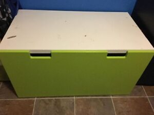 IKEA green and white toy box