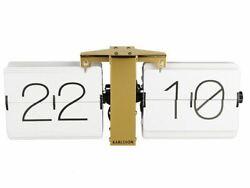 Karlsson Flip Clock No Case - White Stylish Designer Timepiece