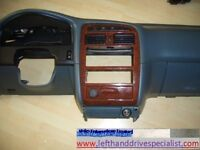 Left hand drive Europe dashboard trim and bracket Toyota Avensis T22 1997 - 2003 LHD conversion part