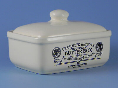 Charlotte Watson Made in the UK Cream Butter Dish Box With Lid - 646