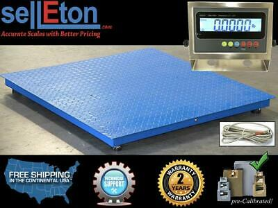 Floor Scale Pallet Size Stainless Steel Indicator 40 X 40 2500 Lbs X 0.5 Lb