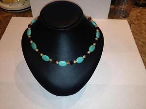 New Swarovski Amethyst Crystal & Turquoise Magnesite Necklace