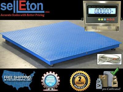 Floor Scale Pallet Size Stainless Steel Indicator 48 X 48 5000 Lbs X 1 Lb