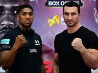 Anthony Joshua vs Wladimir Klitschko April 29th at Wembley Stadium