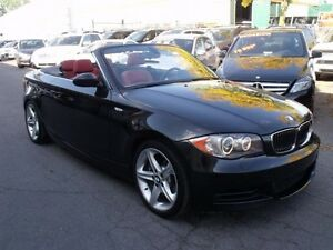 2009 BMW 135 CONVERTIBLE-AUTO-CUIR ROUGE-
