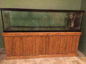 112 Gallon aquarium with Pine stand