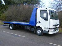 Car van recovery tow truck towing breakdown roadside jump start transport