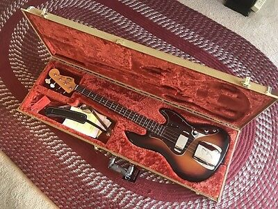 Usado, 2011 Fender American Vintage '62 RI Jazz Bass Sunburst made in USA +Case 1962 segunda mano  Embacar hacia Argentina