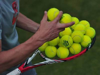 12 USED TENNIS BALLS - GREAT CONDITION - FREE POSTAGE