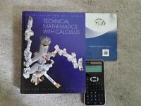 Technical Math With Calculus (For Most Math Courses at Lambton)